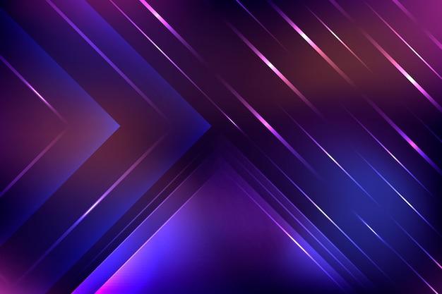 Fundo geométrico de luz neon