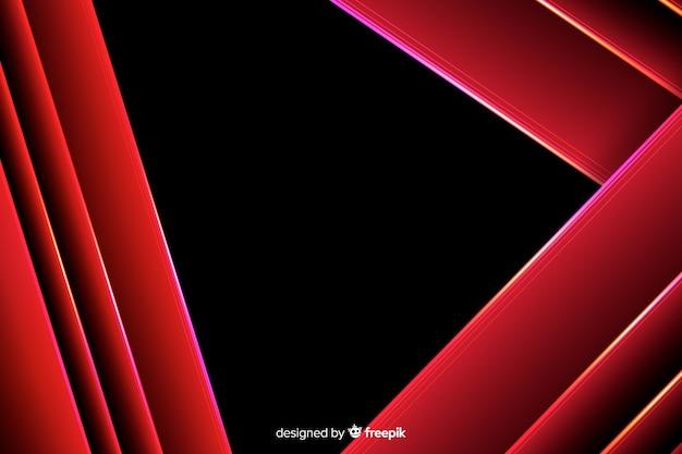 Fundo geométrico de luzes vermelhas