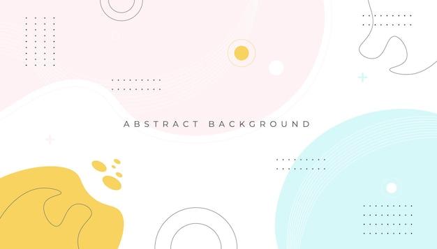 Fundo geométrico de memphis com formas abstratas