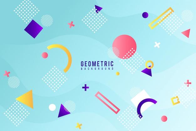 Fundo geométrico de memphis