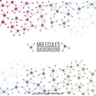 Fundo geométrico de moléculas