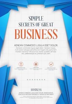 Fundo geométrico de negócios. molde do vetor. folheto empresarial vector
