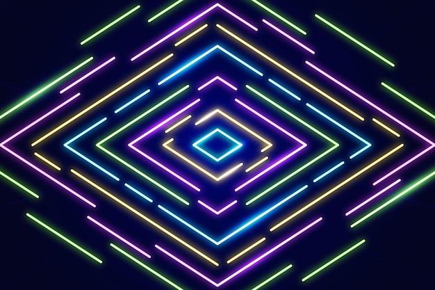 Fundo geométrico de néon