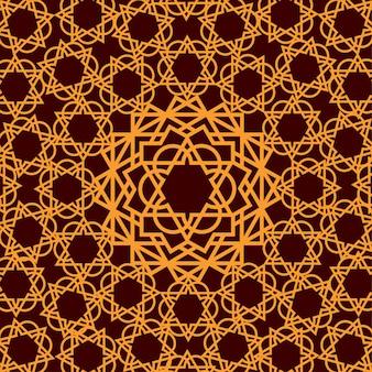 Fundo geométrico de ornamento árabe