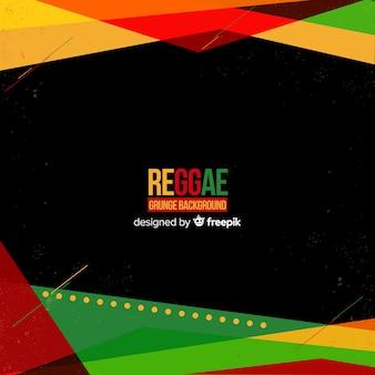 Fundo geométrico de reggae