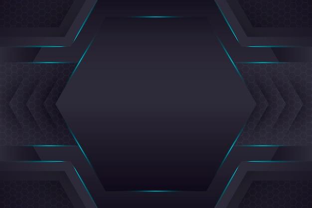 Fundo geométrico de tecnologia gradiente