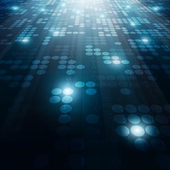 Fundo geométrico de tecnologia