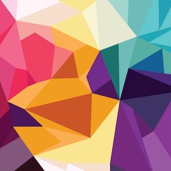 Fundo geométrico de triângulo colorido abstrato