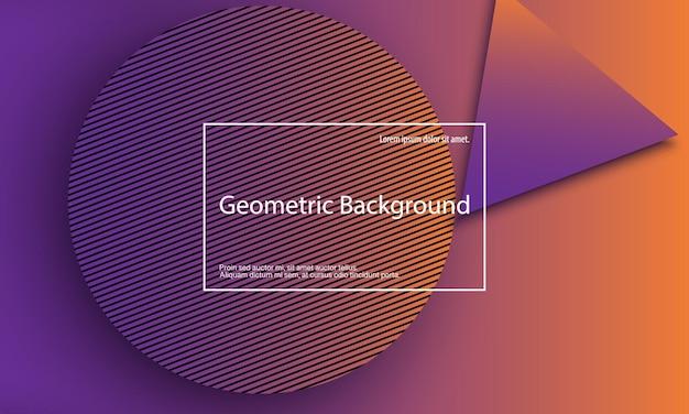 Fundo geométrico. design de capa abstrata mínima. papel de parede colorido criativo. cartaz gradiente da moda. ilustração vetorial.