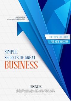 Fundo geométrico do negócio business flyer