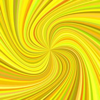 Fundo geométrico do redemoinho - ilustração vetorial de raios girados em tons coloridos