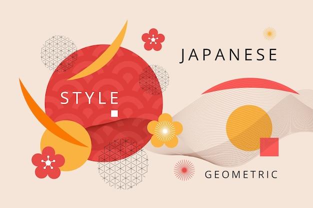 Fundo geométrico em design japonês