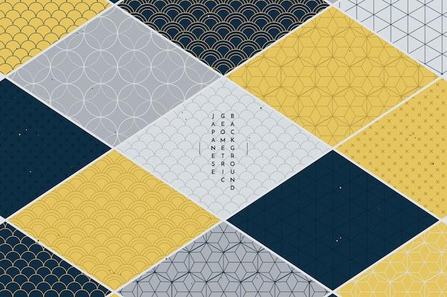 Fundo geométrico em estilo japonês