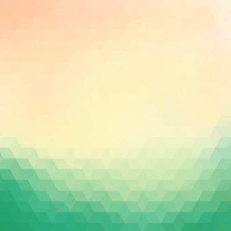 Fundo geométrico em tons de verde e creme
