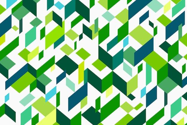 Fundo geométrico em tons de verde