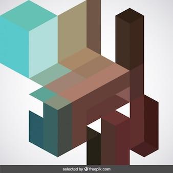Fundo geométrico em tons marrons e verdes