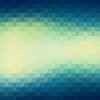Fundo geométrico em tons verdes