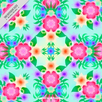 Fundo geométrico floral