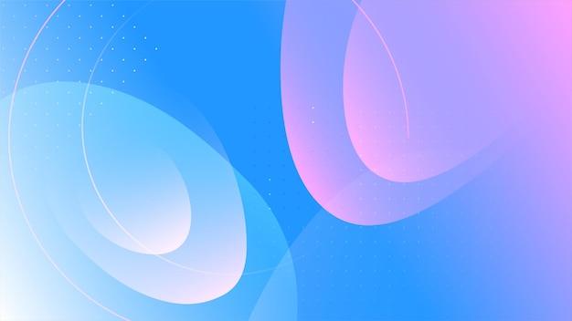 Fundo geométrico fluido abstrato na moda.
