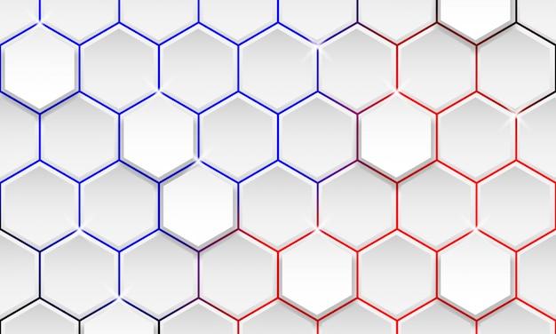 Fundo geométrico futurista, fundo moderno do hexágono