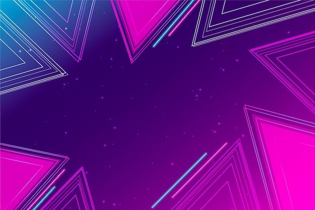 Fundo geométrico futurista gradiente