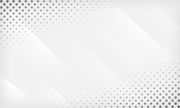 Fundo geométrico gradiente abstrato branco e cinza