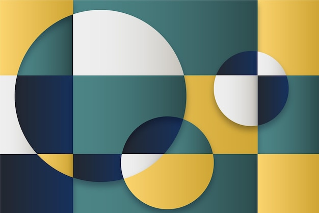 Fundo geométrico gradiente abstrato com diferentes formas