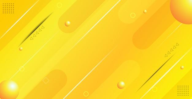 Fundo geométrico gradiente amarelo abstrato