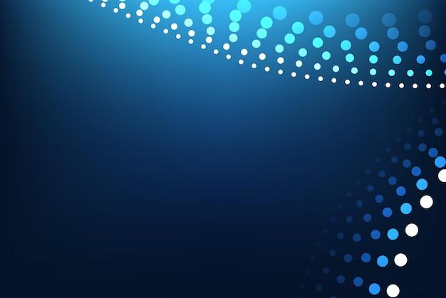 Fundo geométrico gradiente azul abstrato. ilustração vetorial