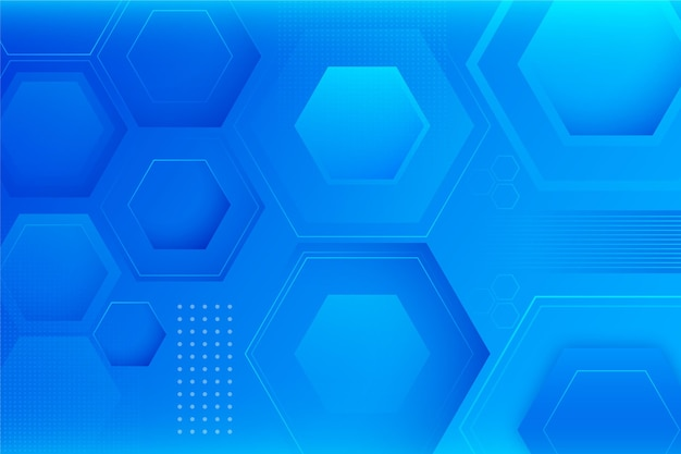 Fundo geométrico gradiente com formas hexagonais