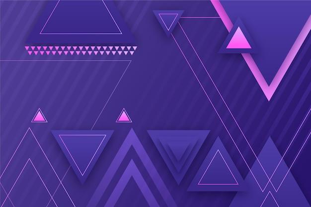 Fundo geométrico gradiente com formas triangulares