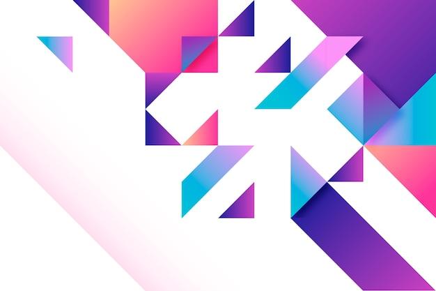 Fundo geométrico gradiente multicolorido