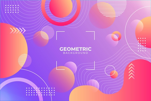 Fundo geométrico gradiente roxo e laranja