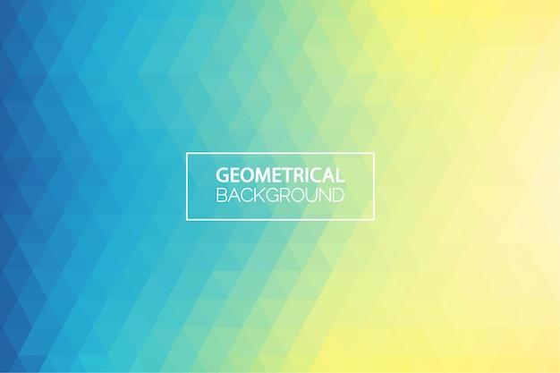Fundo geométrico gradiente verde amarelo moderno