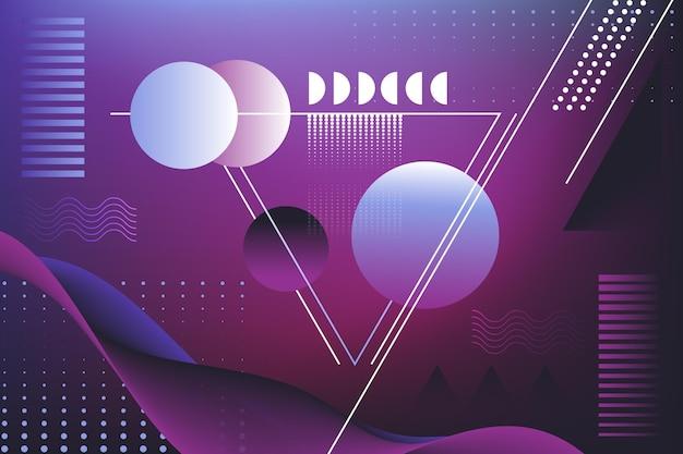 Fundo geométrico gradiente violeta escuro