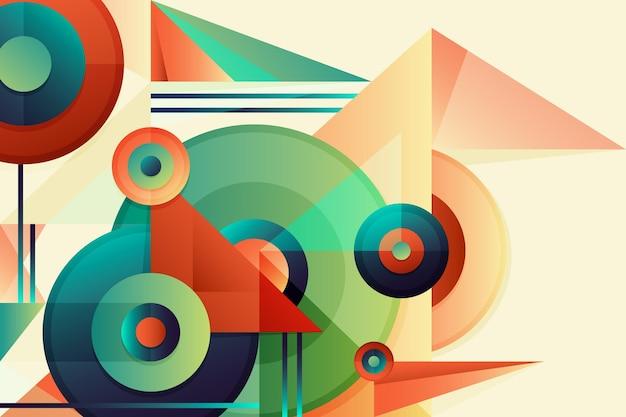 Fundo geométrico gradiente