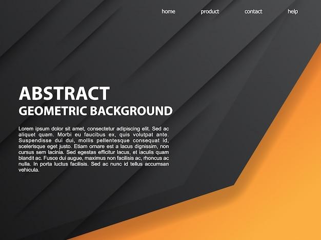 Fundo geométrico laranja preto abstrato