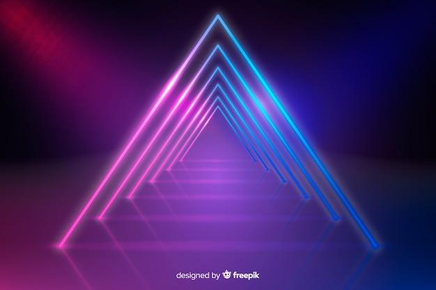 Fundo geométrico luzes de néon