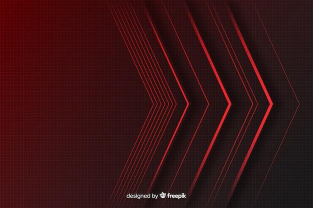 Fundo geométrico luzes vermelhas