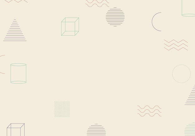 Fundo geométrico minimalista abstrato de memphis. ilustração vetorial. fundo abstrato.