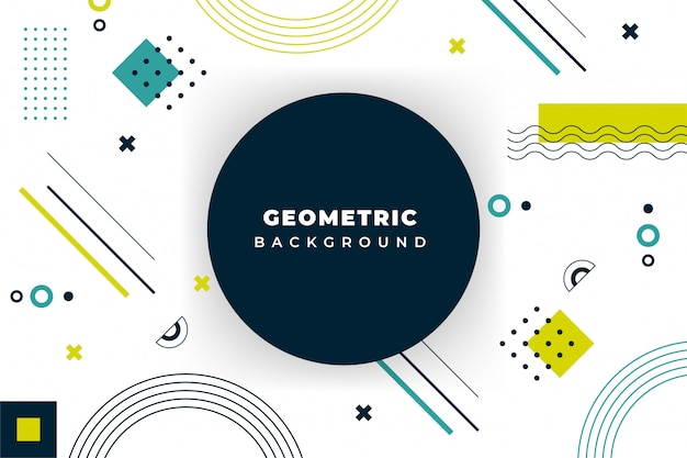 Fundo geométrico mínimo com forma