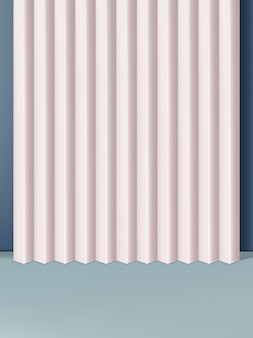 Fundo geométrico mínimo do tiro do estúdio das formas. rosa e cinza