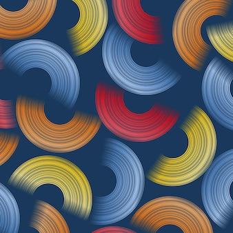 Fundo geométrico moderno com formas abstratas de círculos. design de cartão. design de padrão dinâmico futurista. ilustração vetorial