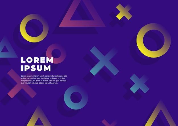 Fundo geométrico moderno de memphis.