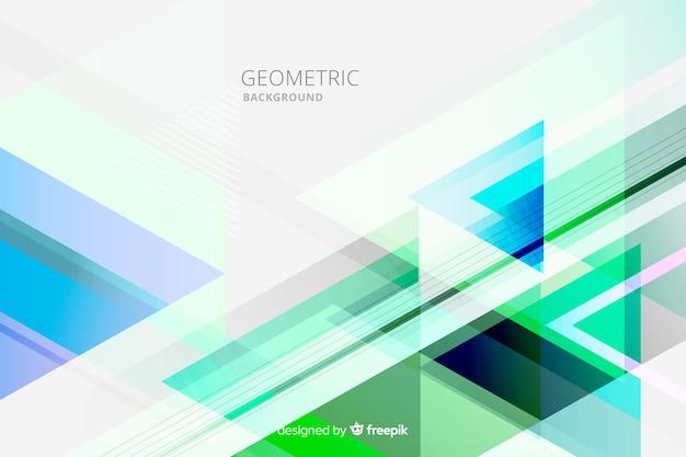 Fundo geométrico multicolor