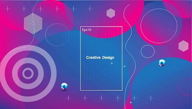 Fundo geométrico ondulado. composição de formas gradiente na moda