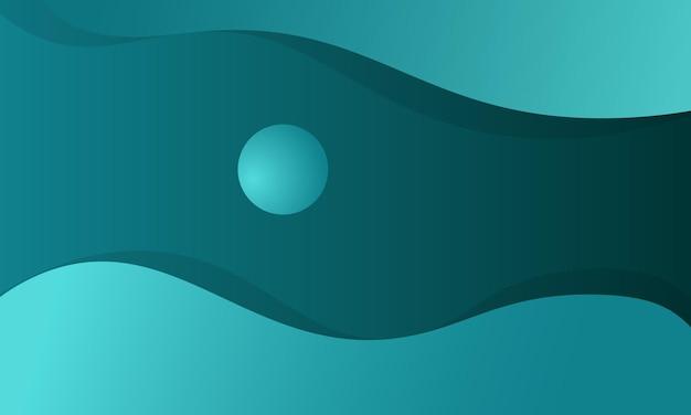 Fundo geométrico ondulado gradiente verde abstrato. design moderno para sua página de destino.