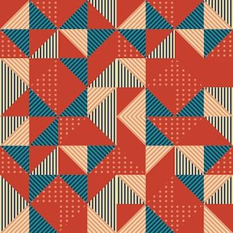 Fundo geométrico padrão com fundo memphis 80s