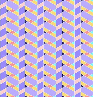 Fundo geométrico padrão sem emenda com linha, losango, trapézio e triângulo.