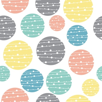 Fundo geométrico pastel sem costura padrão de círculo